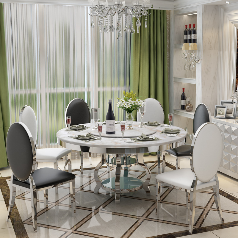 Stainless Steel Dining Room Set Home Furniture Minimalist