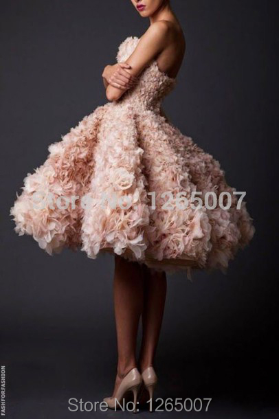 Pretty Couture Sweetheart Nice Beautiful Ruffles Ruffles Flesh Nude Pink A Line Homecoming Dresses Gowns New Arrival