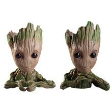 Винил Baby Groot Горшок Ручка Горшок Растения Цветочный Горшок Симпатичные Фигурки Игрушки для Детей
