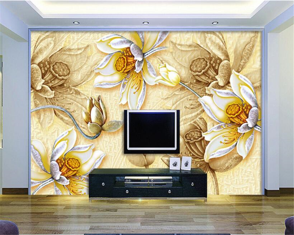 beibehang Custom Made Large Aesthetic Decorative Wallpaper Embossed ...