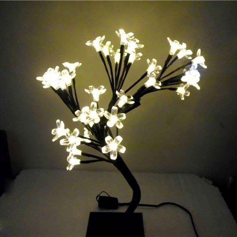 Fairy led crystal cherry blossom christmas tree night for Christmas tree light lamps
