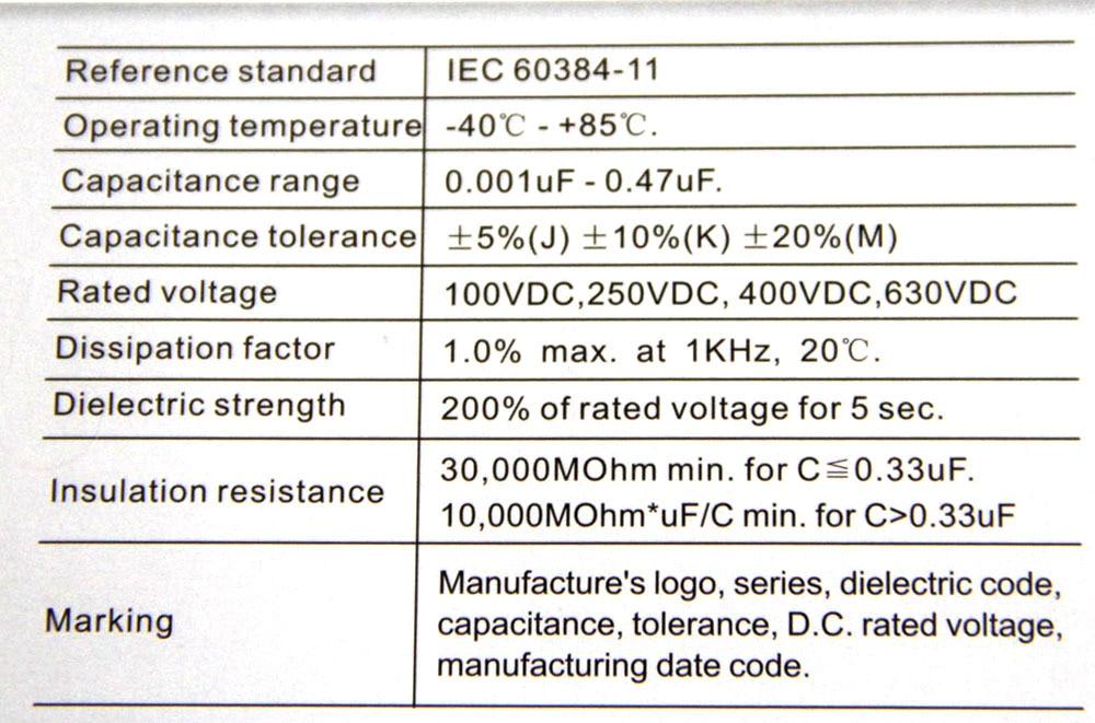 630v 472j New Original Polyester Film Capacitor 472 47nf 00047uf