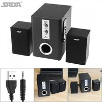Wireless Bluetooth 2 1 Combination Subwoofer Speaker Column Computer Loudspeaker With TF USB For Desktop PC