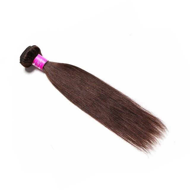 Paquetes de pelo humano precoloreado de ARIEL paquetes de tejido de pelo indio recto marrón claro oscuro #2 #4 colores extensiones de cabello no Remy