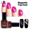 Saviland 1pcs Cat Eyes Gel Nail Polish Magnet Nail Gel Soak Off Long Lasting UV LED Magnetic Top Coat Gel Varnish