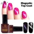 Saviland 1pcs Cat Eyes Gel Nail Polish Magnet Nail Gel Soak Off Long Lasting UV LED Magnetic Top Coat Gel Varnish