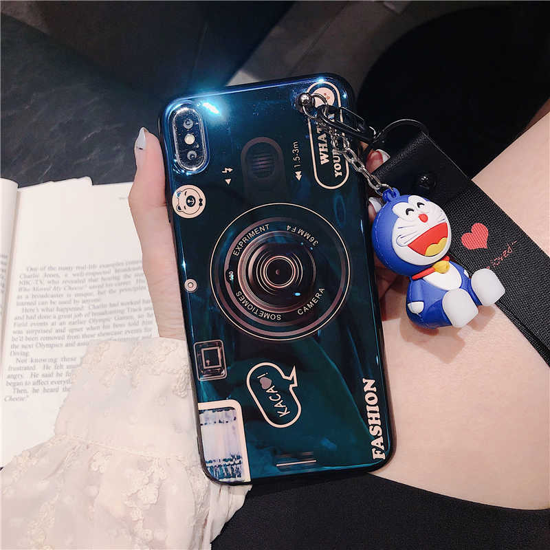 3D Camera Blue Ray Phone Case For Huawei P9 P10 P20 Lite Pro Nova 3 3i Honor 8X V10 8 9 Mate 10 20 lite Stand Strap Soft cover in Fitted Cases from Cellphones Telecommunications