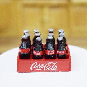 Image 3 - 1 セット 12 個ミニコークス飲料 1/12 ドールハウスミニチュア食品人形ドリンクプレイおもちゃフィット Ob11 アクセサリー