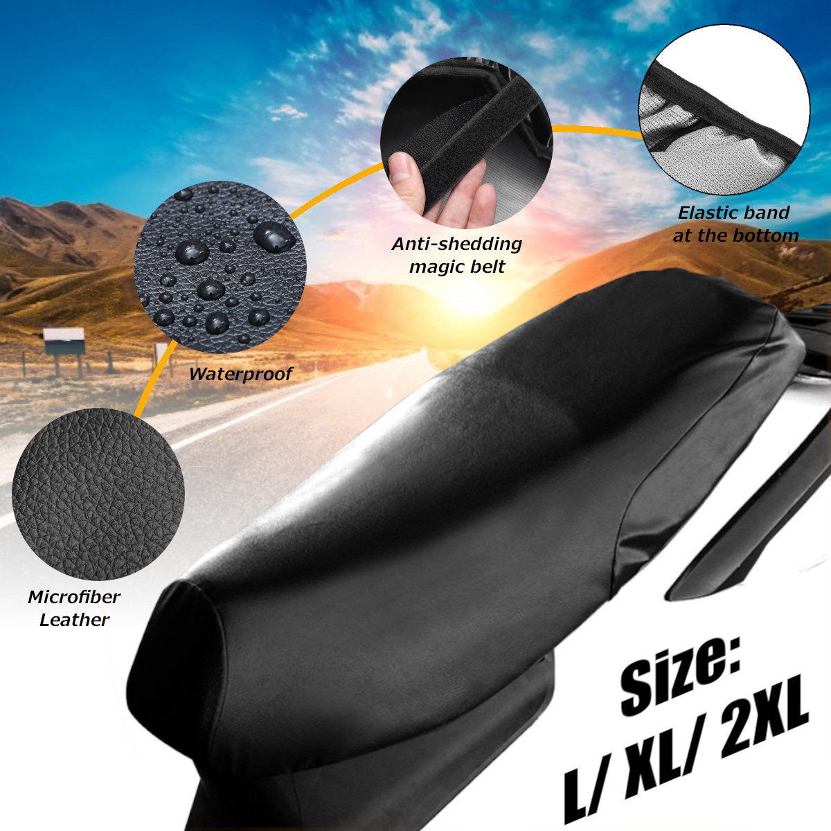 Universal Motorcycle Seat Cushion Cover Cap Waterproof Sunscreen Prevent Bask In Seat Scooter Sun Pad Heat Insulation Protection