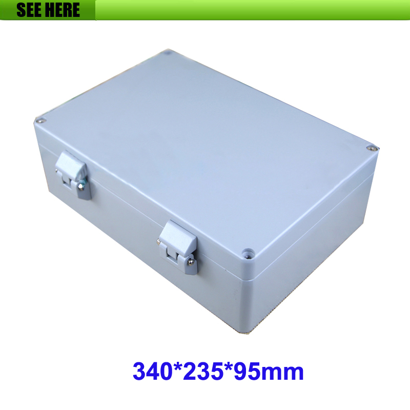 IP66 Protection degree Aluminum Project Box Enclosure Electronic DIY Instrument Case 340*235*95mm