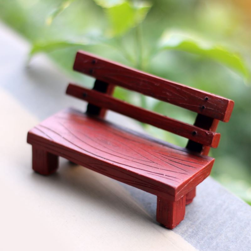 1 Pcs Mini Resin Bench Figurines Micro Landscaping Decor For Garden DIY Craft Accessories P10