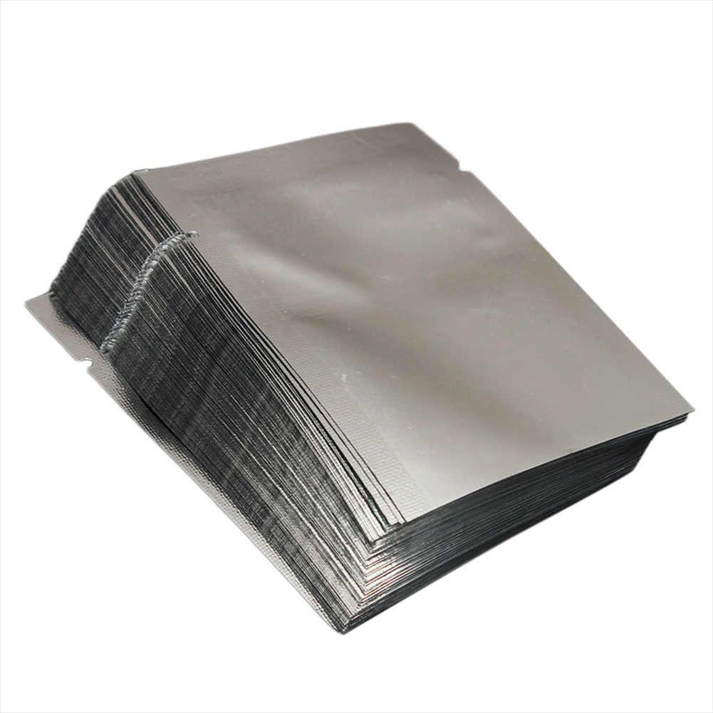100pcs Heat Seal Storage Bags Aluminium Foil Vacuum Sealer Pouches Food Grade For Nuts 669