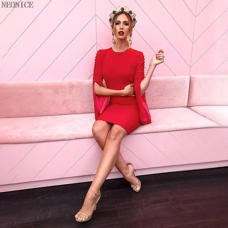 1b122259e22a 2018 Button Casual Stirata Nightclub Hip Di Il bianco Modo Festa Vestito  Compleanno Sexy Donna Fasciatura Celebrità Nuova Pranzo Dalla Skinny ...