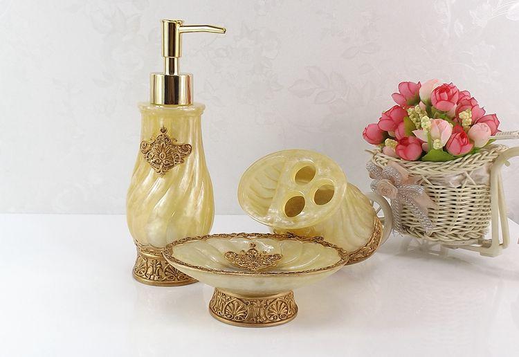 Résine salle de bain accessoires ensemble 5 pièces porte-brosse à dents Lotion distributeur savon anniversaire mariage cadeau - 4
