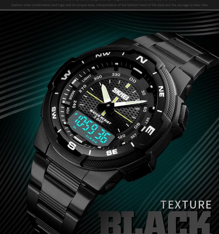 SKMEI 1370 Stainless Steel Waterproof Wrist Watch 5