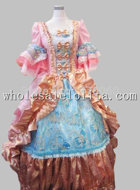 17 18th Century Baroque Rococo Pink Marie Antoinette Era Court Dress