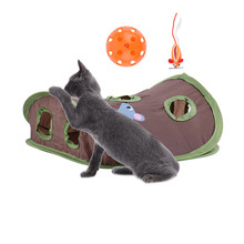 Multifunction Pet Cat Toys Pet Kitten Interactive Play Toys With Bells Mouse folding Toys Small Pets Hidden Hole Free Shipping