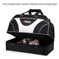 Çift Katmanlar Golf Giyim Çantası Siyah PGM Marka Spor Golf Ayakkabı Çanta Su Geçirmez Büyük Kapasiteli Seyahat için Golfbag Mens