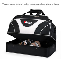 Double Layers Golf Clothing Bag Black PGM Brand Sports Golf Shoes Handbags Waterproof Large Capacity Travel Golfbag for Mens
