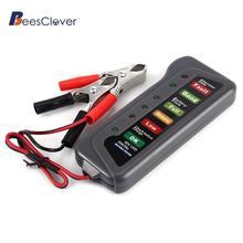 Adeeing 6 светодиодный индикатор Дисплей Цифровой батарея Генератор тестер для автомобилей для мотоциклов, грузовиков 12 в цифровой аккумулятор генератор r30