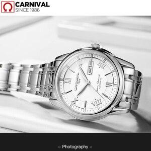 Image 5 - カーニバル男性腕時計御代田自動T25 トリチウム発光機械式時計の男性トップブランドの高級時計リロイフルスチールレロジオ