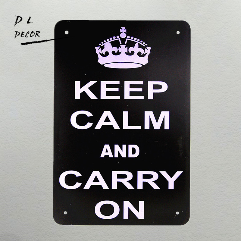 DL-Keep Calm And Carry on Retro metal Aluminium Sign rum Christmas Gift outdoor wall plaques