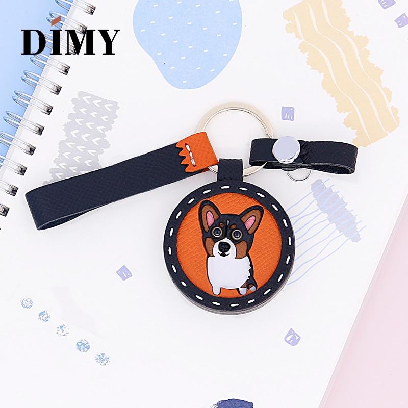 DIMY Genuine Leather Handmade Custom Corgi Cute Pendant Cowhide Women's  Bag Charms Ornament Daughter Gifts Charm Animals Bags
