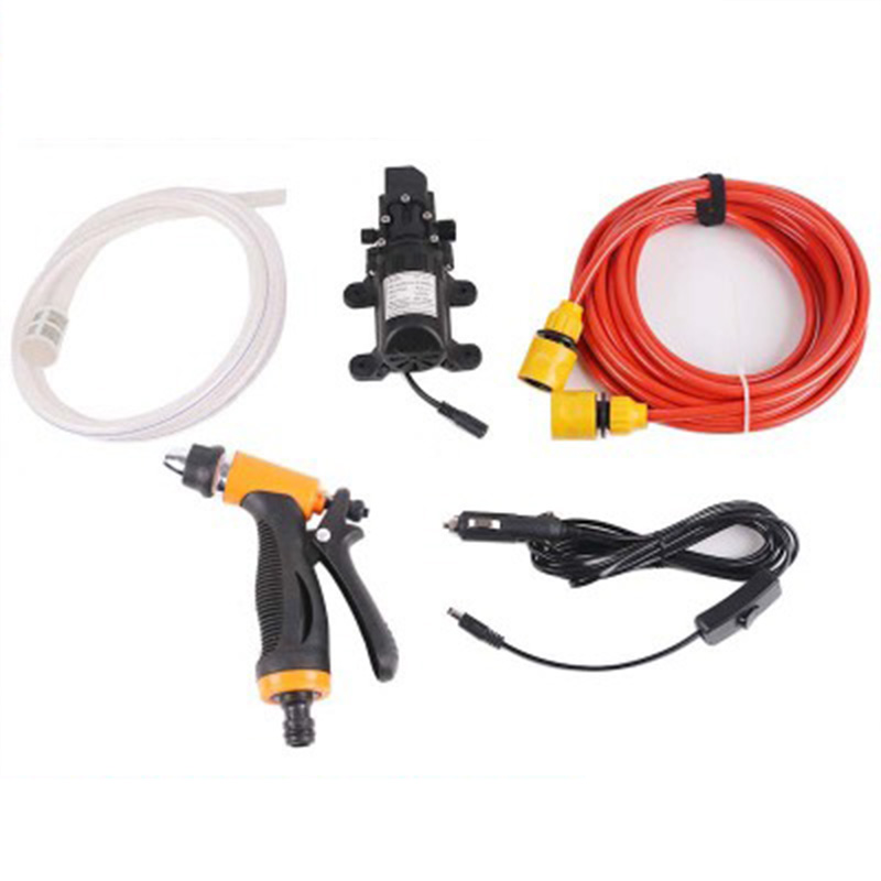 Dc12v Portable Electric High Pressure Car Washer Spray Tool Jet Pump Hose Kit