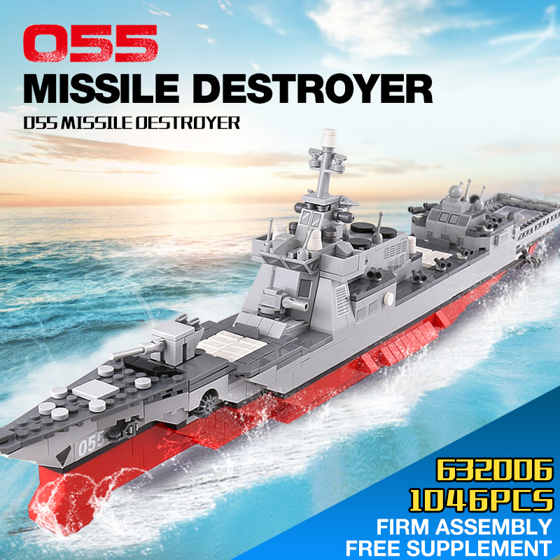 632006 The 055 Missile Destroyer Set Building Blocks Bricks Assembled DIY Birthday Educational Toys Funny Gifts632006 The 055 Missile Destroyer Set Building Blocks Bricks Assembled DIY Birthday Educational Toys Funny Gifts