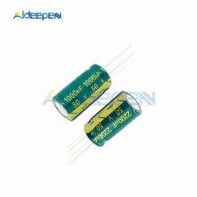 10 шт./лот 10 мкФ 22 47 мкФ 100 мкФ 470 мкФ 1000 мкФ 2200 мкФ 50 значение комплект электролитический конденсатор с алюминиевой крышкой, Алюминий низкое сопротивление высокой частоты
