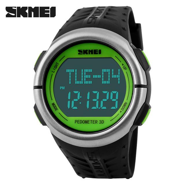 Mens Relógios Top Marca de Luxo SKMEI Homens Relógio Pedômetro Heart Rate Monitor de Calorias Contador Digital Esporte Relógios Para Homens Mulheres