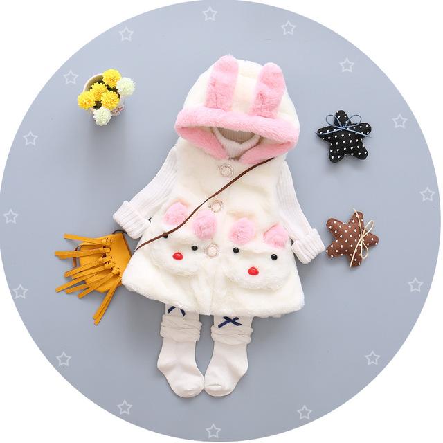 2016 nova queda de 100% do bebê do algodão traje vestido bonito vestido da menina princesa vestido + colete 2 pçs/sets de crianças da marca frete Grátis