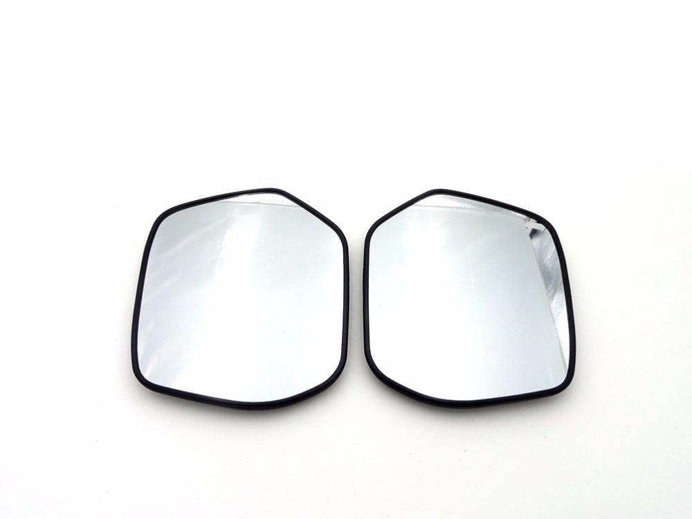 1 paire Blanc rétroviseur latéral En Verre Droit et du Côté Gauche Chauffée Aile Porte Miroir Verre Pour Honda CRV 2012-2014