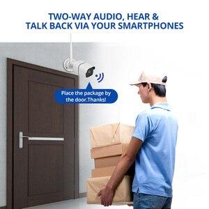 Image 4 - Kit de caméra de sécurité sans fil 4MP, IP Wifi, carte SD, vidéosurveillance extérieure 4CH, Audio