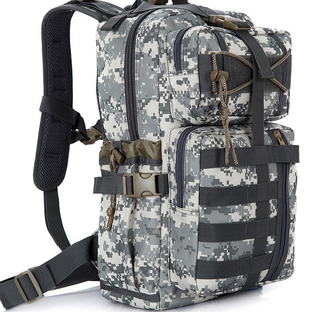 30L Camouflage Camping Bags Men Outdoor Waterproof Molle Bagpack Military 3P Tactical Assault Travel Camping Hiking Backpack 2016 large men waterproof military tactical molle laptop backpack canvas 15 6 17 outdoor mountaineer camping hiking travel