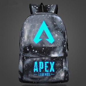Image 5 - Nueva llegada, juego popular, mochila APEX LEGENDS, mochilas luminosas para viaje, escuela