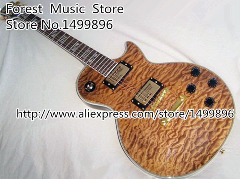New Arrival LP Nature Wood Chinese Electric Gutiar Flamed Maple Finish Guitar Body Lefty Custom Available jimmy page standard lp guitar flamed maple free shipping