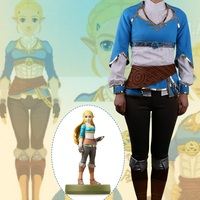 High Q Unisex Anime Cos The Legend of Zelda: Breath of the Wild Princess Zelda Cosplay Costumes