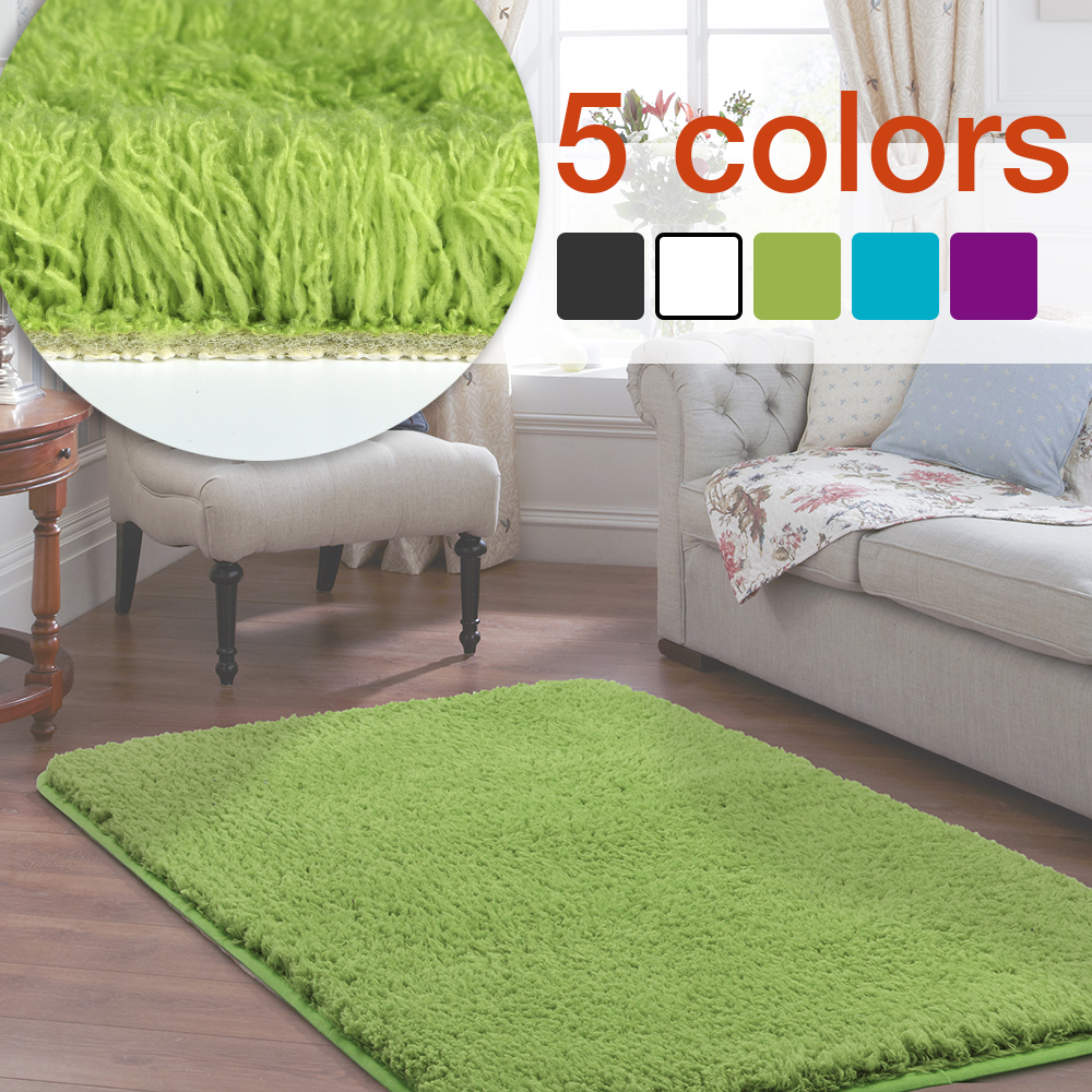 Cotton Carpet Living Room Dining Bedroom Area Rugs Anti: Fluffy Rug Anti Slip Shaggy Area Rugs Living Dining Room