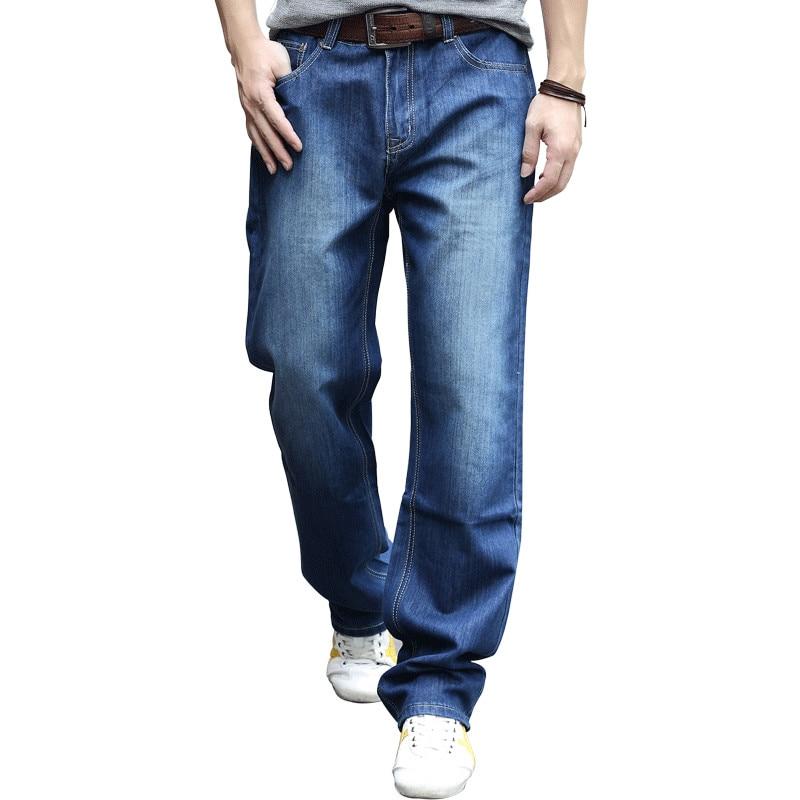 Hot New Large Size Jeans Fashion Loose Hip-Hop Casual Men Jeans Wide Leg Blue 28-44 hot new large size jeans fashion loose jeans hip hop casual jeans wide leg jeans