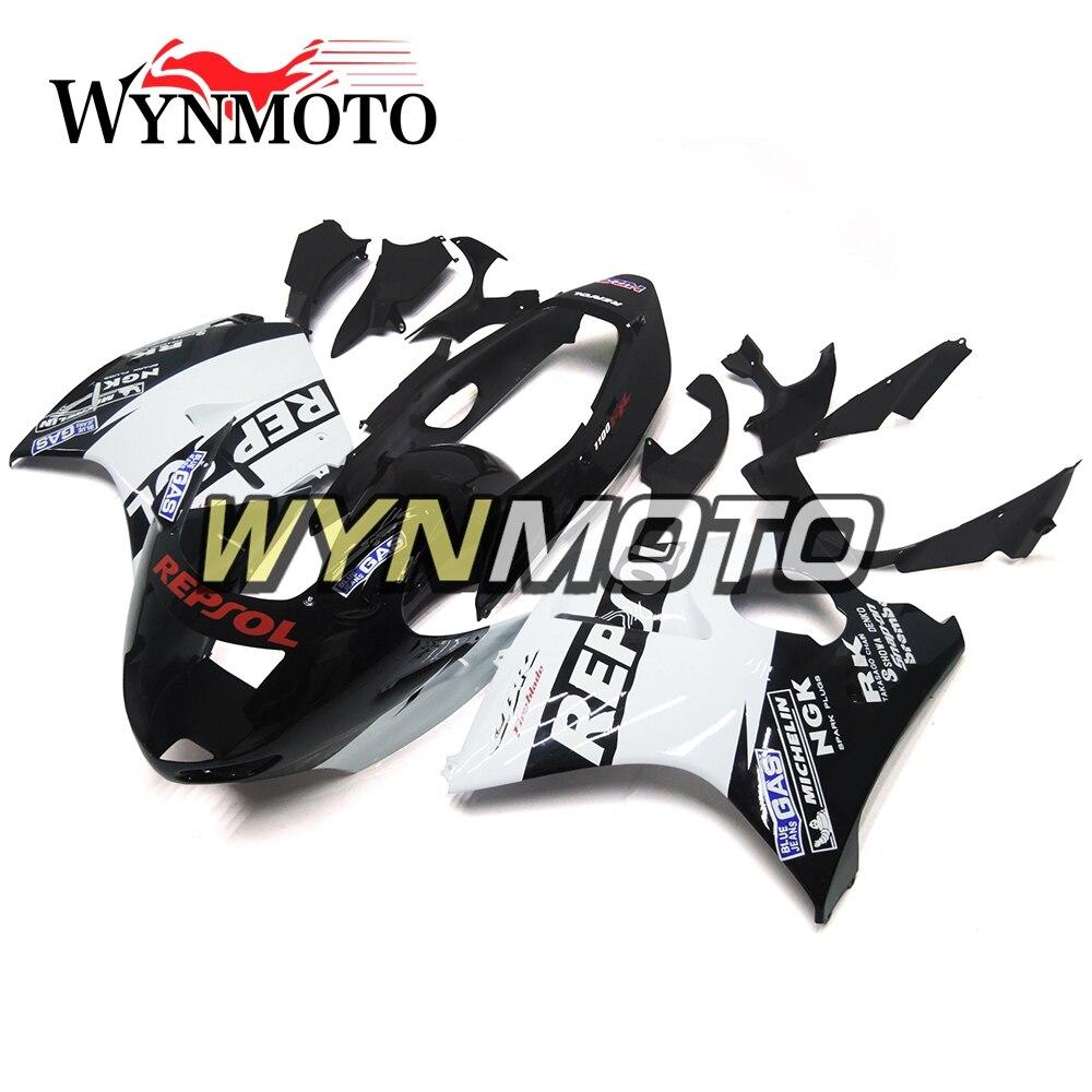 Complete White Black Fairings For Honda CBR1100XX 1997-2007 Year Injection ABS Plastics CBR 1100XX 97-07 Motorbike Bodywork Hull