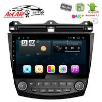 AuCar 10.1 Car DVD Player for Honda Accord 7 2003 2007 Android radio gps navigation HD 1024*600 Bluetooth Radio WIFI Stereo IPS
