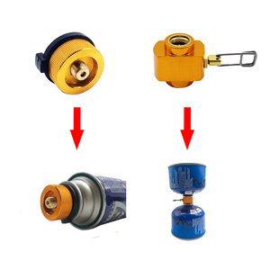 Outdoor Camping Gas Adapter Stove Cylinder Gas Tank Burners Stove Connector Gas Stove Adapter Converter Accessory