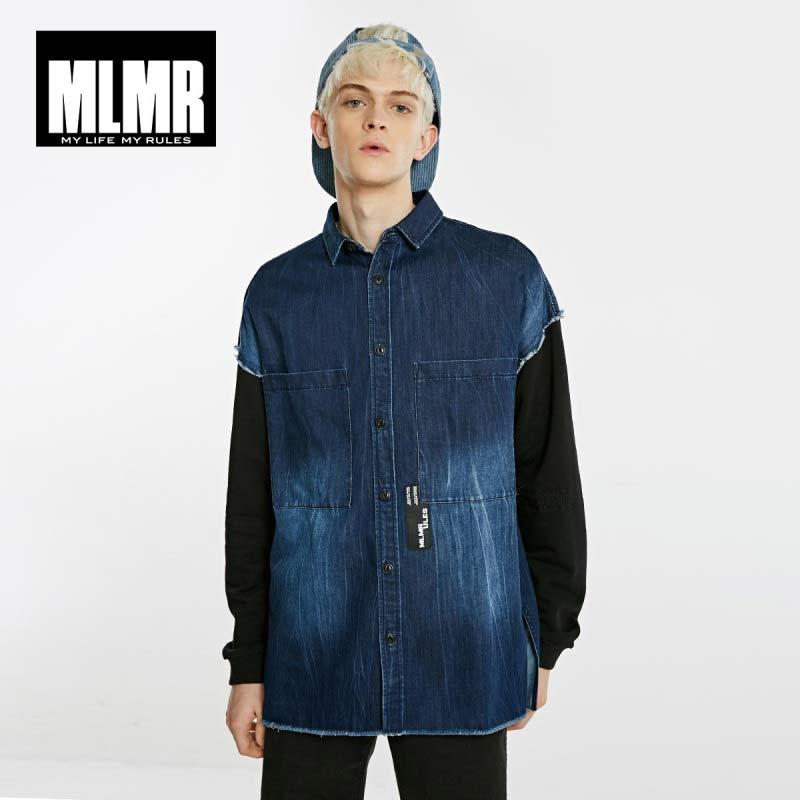 JackJones Men's Loose Fit Washed Style Long-sleeved Denim Shirt 218305564