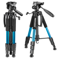 Neewer Blue 56 inches/142cm Aluminum Camera Tripod 3 Way Swivel Pan Head+Carrying Bag for Canon/NikonLoad up to 8.8 pounds/4 kg