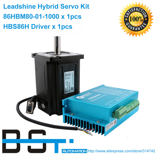 New Leadshine Hybrid Servo Drives Hbs86h Work 24 80vdc Or 18 60 Vac Fit The Motor 86hbm80 01 1000 Out 8nm 400 500w
