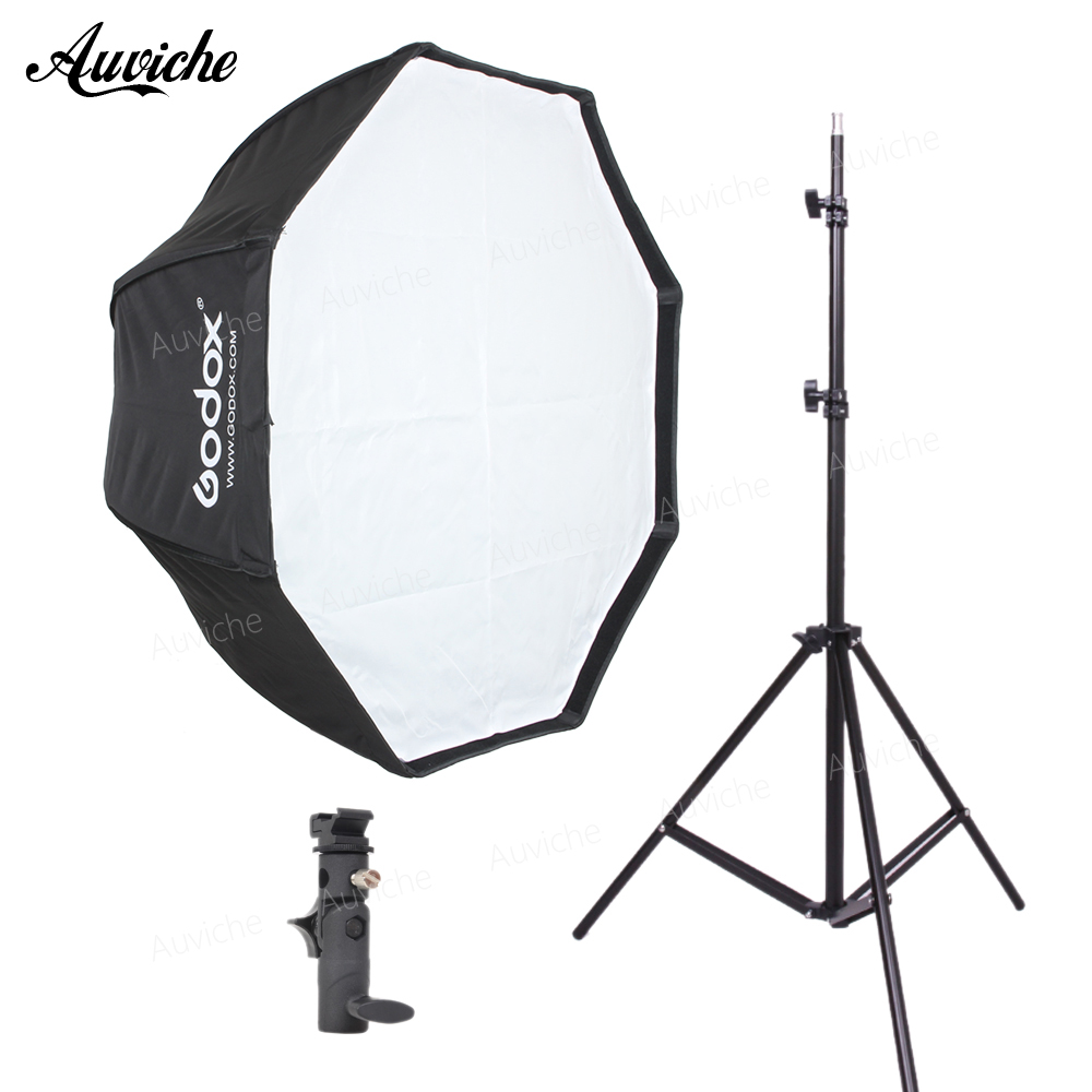 GODOX 95cm Speedlight Flash Octagon Umbrella softbox for Speedlight Flash Studio flash Hot shoe bracket