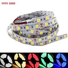 RGB LED Luz de Tira SMD 5050 LOS 60LED/M DC12V Luz Flexible de La Cinta 1/2/3/4/5 M Barra de Luz No-impermeable Led Franja de Cinta