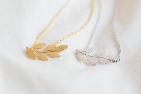 Online shop fashion new style silver plating rose gold plating fashion new style silver plating rose gold plating pretty organic laurel leaf pendant necklace for women gift a single sale aloadofball Choice Image