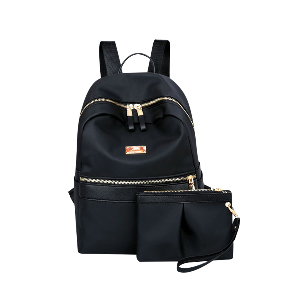 Women Fashion Two Piece Set Solid Backpack Pruse Zipper Bag Teenagers Travel School Bags Bagpack#ZSWomen Fashion Two Piece Set Solid Backpack Pruse Zipper Bag Teenagers Travel School Bags Bagpack#ZS